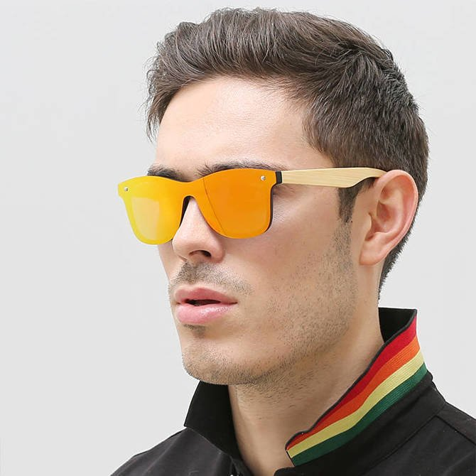 Okulary Drewniane Polaryzacyjne Przeciwsłoneczne Nerdy Lustrzanki